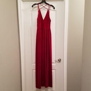 Lucy Paris red velvet formal dress